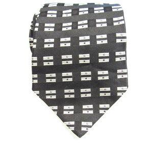 Stafford 100% Silk Men's Necktie Black White Tie